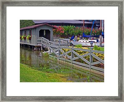 Point Clear Bridge At Grand Hotel Framed Print