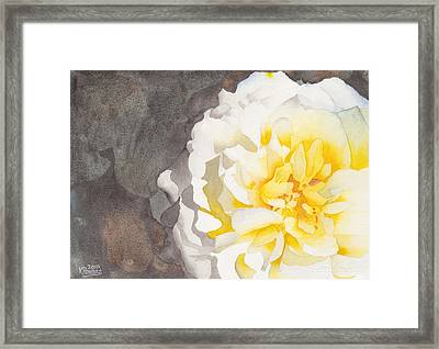 Point Defiance White Flower Framed Print