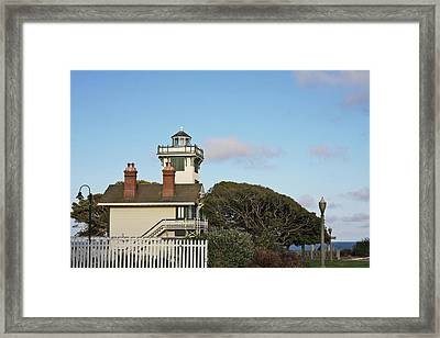 Point Fermin Light - An Elegant Victorian Style Lighthouse In Ca Framed Print by Christine Till