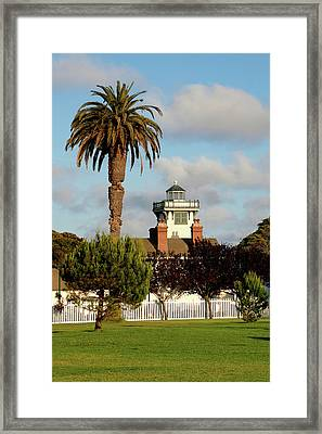 Point Fermin Light - San Pedro - Southern California Framed Print by Christine Till