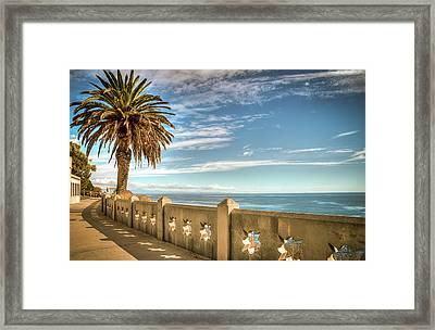 Point Fermin Walkway San Pedro California Framed Print