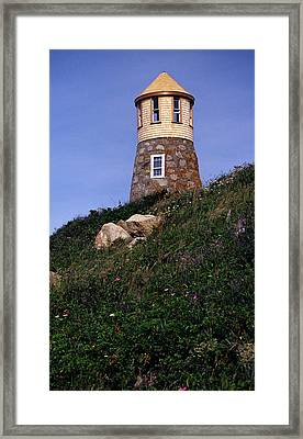 Point Gammon Lighthouse Framed Print by Skip Willits