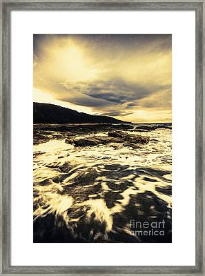 Point Hawdon Ocean Wash Framed Print