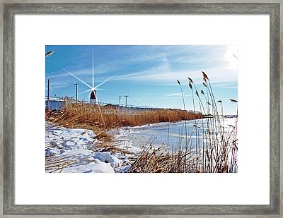 Point Judith Light Framed Print by Frank Garciarubio