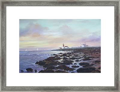 Point Judith Light R I Framed Print