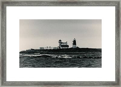 Point Judith Lighthouse Narragansett Rhode Island Framed Print by Nancy De Flon
