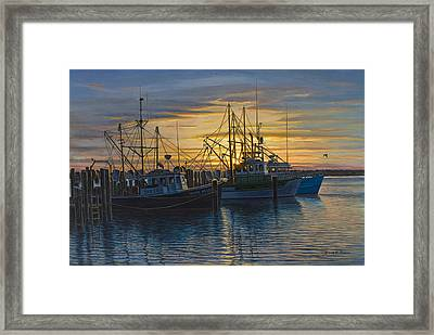 Point Judith Sunset Framed Print by Bruce Dumas