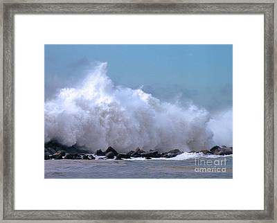 Point Judith Surf Framed Print