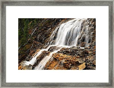 Point Lace Falls 1 Framed Print by Larry Ricker
