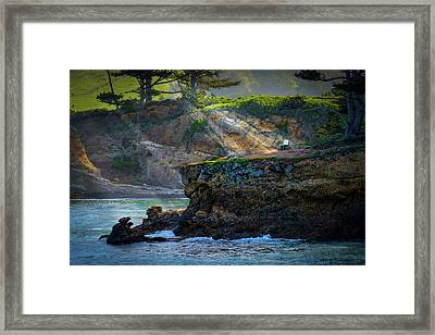 Point Lobos, Calif. A Missed Opportunity Framed Print by Wendy Seagren