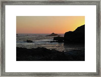 Point Lobos Sunset Framed Print