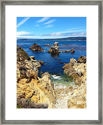 Point Lobos Whalers Cove- Seascape Art Framed Print by Kathy  Symonds