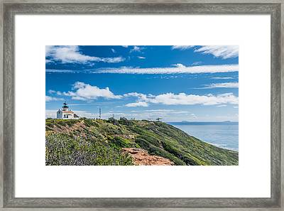 Point Loma And Beyond - California Coast Photograph Framed Print