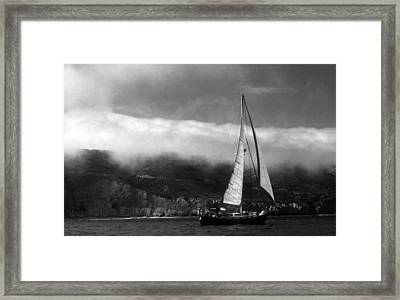Point Loma Fog Framed Print