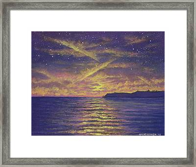 Point Loma Sunset 01 Framed Print