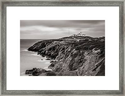 Point Lynas Lighthouse In Llaneilian On Anglesey Framed Print