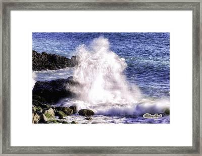 Point Mugu Explosion Framed Print