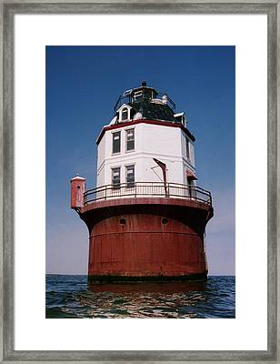 Point No Point Lighthouse Chesapeake Bay Maryland Framed Print by Wayne Higgs