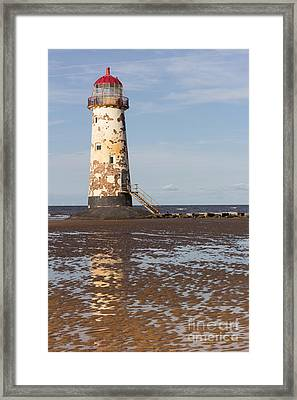 Point Of Ayr Lighthouse Framed Print by Kathryn Bell