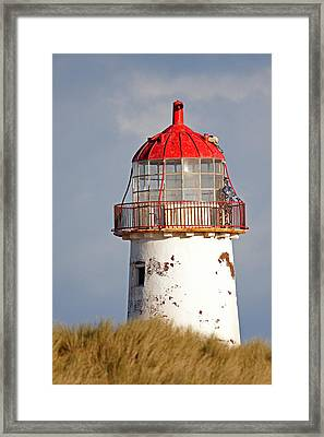 Point Of Ayr Lighthouse North Wales Framed Print by Bob Kemp