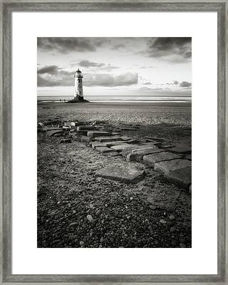 Point Of Ayre Lighthouse Framed Print by Jon Baxter