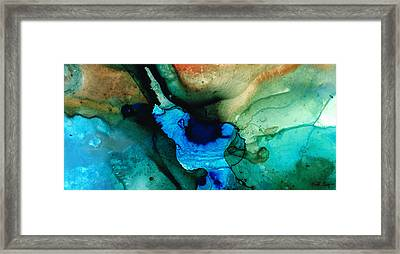 Point Of Power - Abstract Painting By Sharon Cummings Framed Print by Sharon Cummings