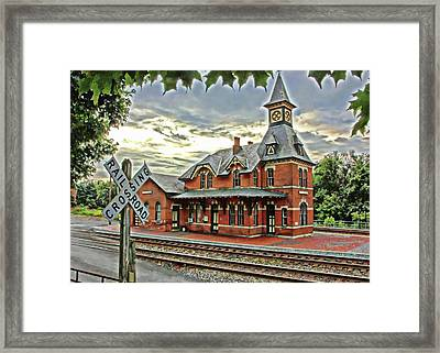 Point Of Rocks Train Station Framed Print