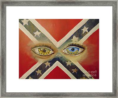 Framed Print featuring the painting Point Of View by Saundra Johnson