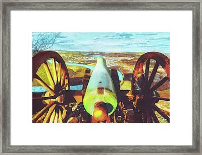 Point Park Cannon Framed Print by Steven Llorca