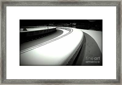 Point Park Fountain Winter, Pittsburgh Pa  Framed Print