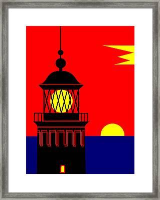 Point Queen Charlotte Light House Framed Print by Asbjorn Lonvig