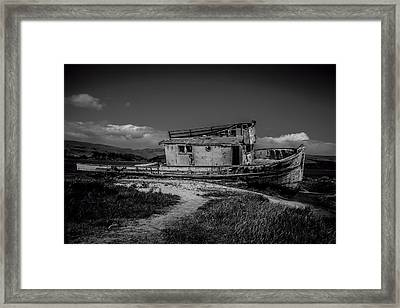 Point Reyes Black And White Framed Print by Garry Gay