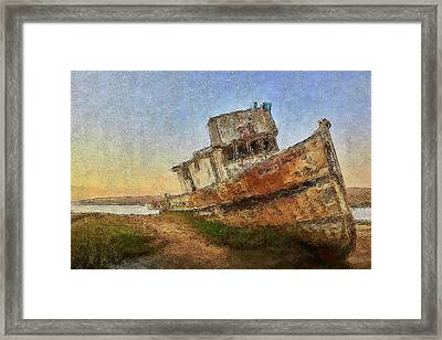 Point Reyes Boat Framed Print
