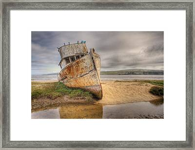 Point Reyes In The Sand Framed Print