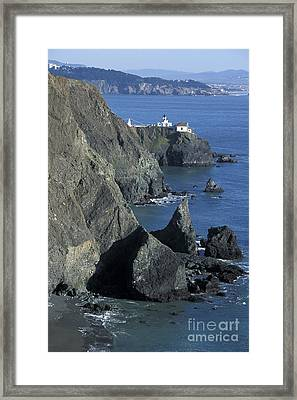 Framed Print featuring the photograph Point Reyes Light by Stan and Anne Foster