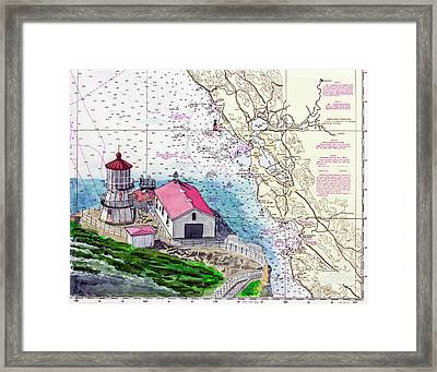 Point Reyes Light Station Framed Print by Mike Robles