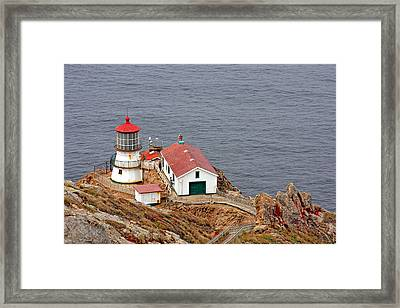 Point Reyes Lighthouse Ca Framed Print