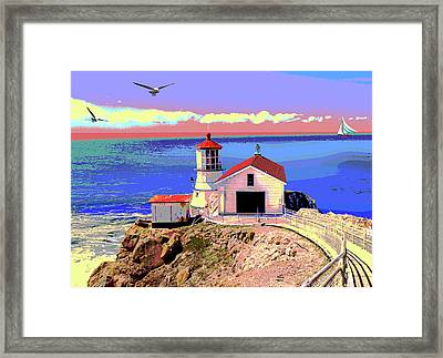 Point Reyes Lighthouse    Framed Print by Charles Shoup