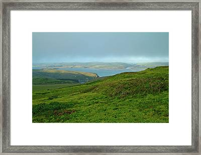 Point Reyes Overlooking Tomales Bay Framed Print