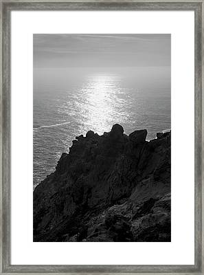 Framed Print featuring the photograph Point Reyes Seascape I Bw by David Gordon