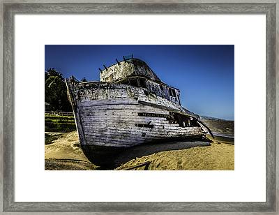 Point Reyes Ship Wreck Framed Print by Garry Gay