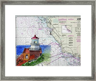 Point Sur Light Station Framed Print by Mike Robles