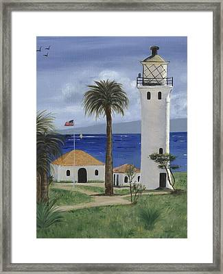 Point Vicente Lighthouse Framed Print by Jamie Frier