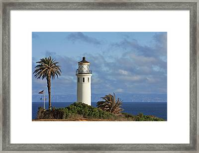 Point Vicente Lighthouse On The Cliffs Of Palos Verdes California Framed Print by Christine Till