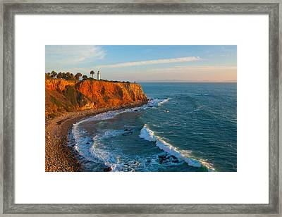 Point Vicente Lighthouse Palos Verdes California Framed Print by Ram Vasudev