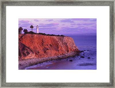 Framed Print featuring the photograph Point Vicente Lighthouse - Point Vicente - Orange County by Photography By Sai