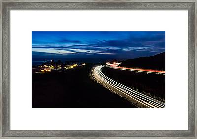 Point Vincente Light Trails Framed Print