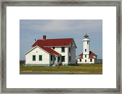Point Wilson Light Framed Print by Art Block Collections