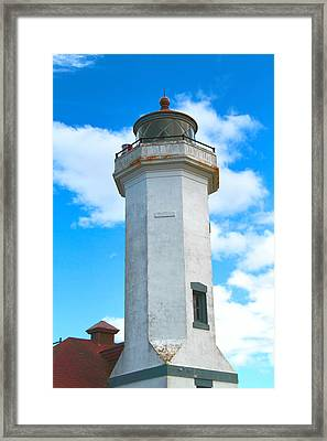 Point Wilson Light Close Up Framed Print by Dan Sproul