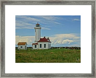 Point Wilson Lighthouse Framed Print by Dan Sproul